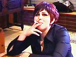 Goth girls smoking in fetish video