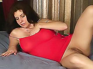She licks titties and toys vagina