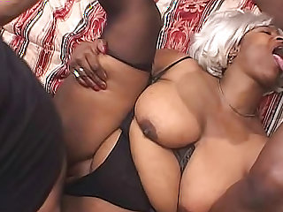 Both guys banging BBW cum on her tits