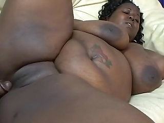 Plowing a fat black pussy with a big cock