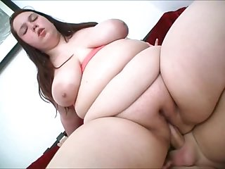 Fat girl with shaved cunt fucked