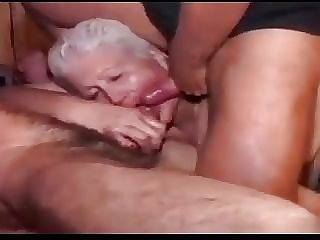 BBW Granny Gangbang